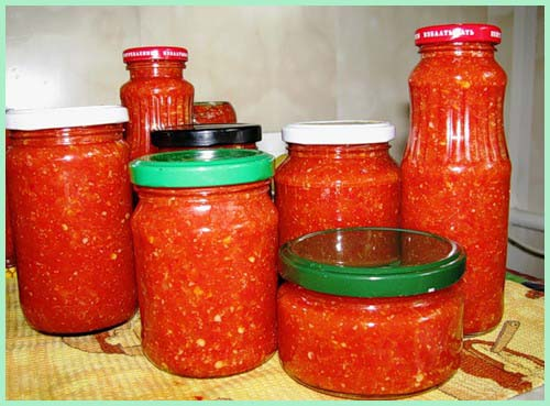 аджика из помидор не острая рецепт на зиму