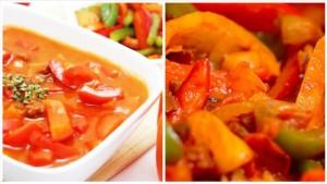 рецепт лечо на зиму с томатной пастой и перцем