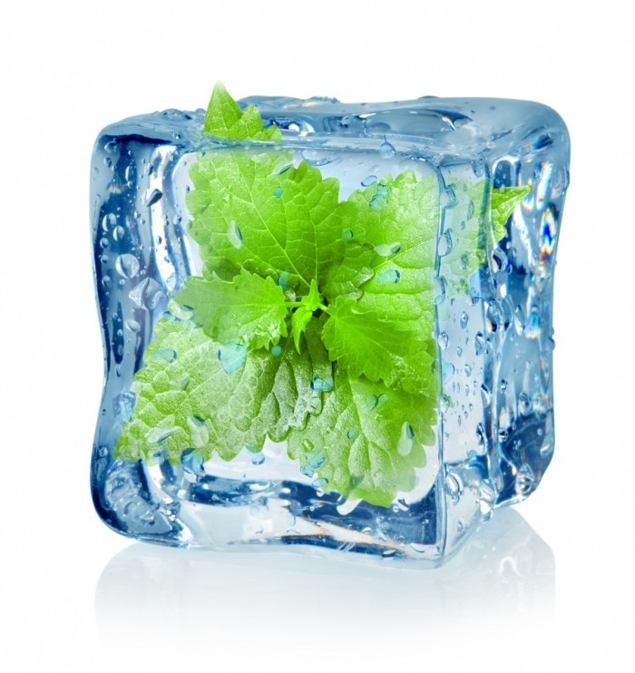 мята во льду