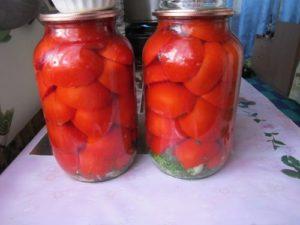 помидоры красные половинками