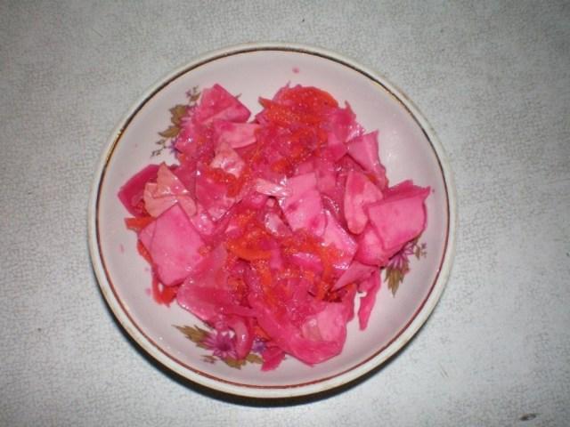 Капуста суточная рецепт со свеклой рецепт пошагово