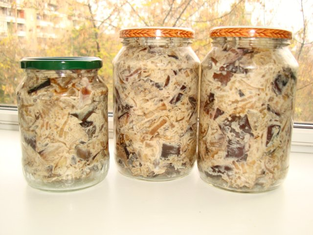 салат из баклажанов с майонезом и чесноком на зиму