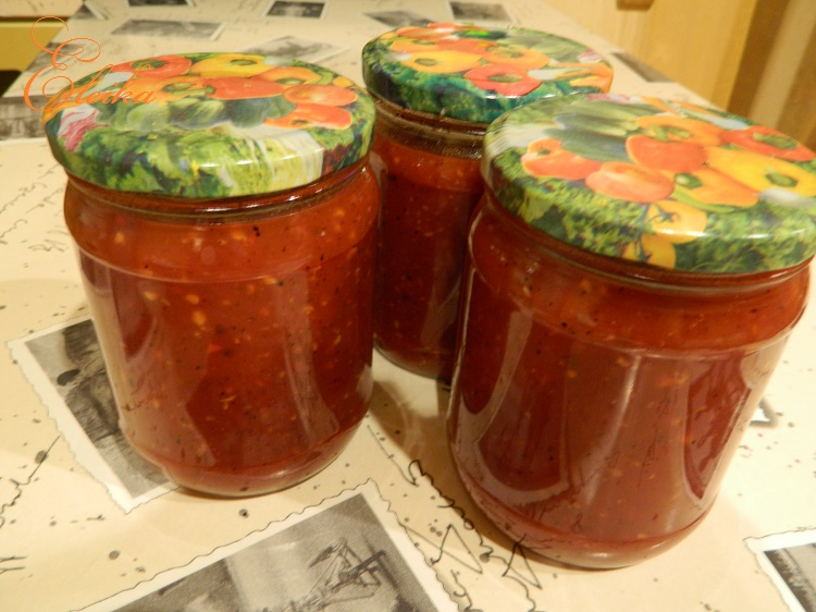 Консервация кетчупа в домашних условиях